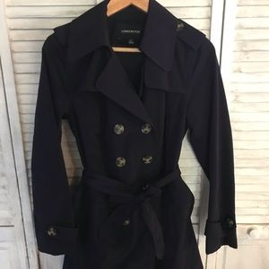 London fog trench rain jacket S